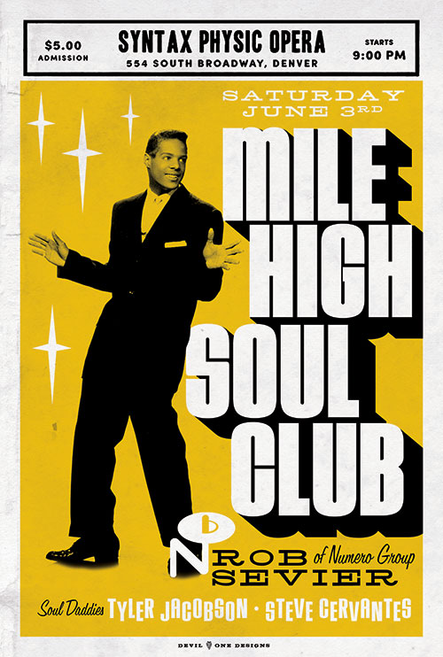 Mile High Soul Club June 2017 with Rob Sevier of Numero Group