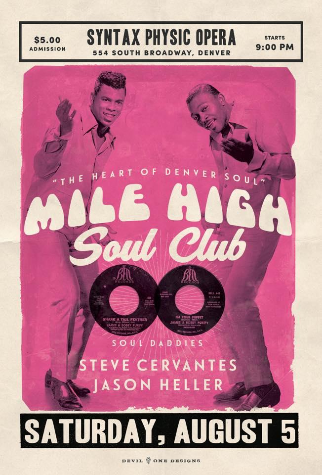 Mile High Soul Club - August 2017 - Denver, CO