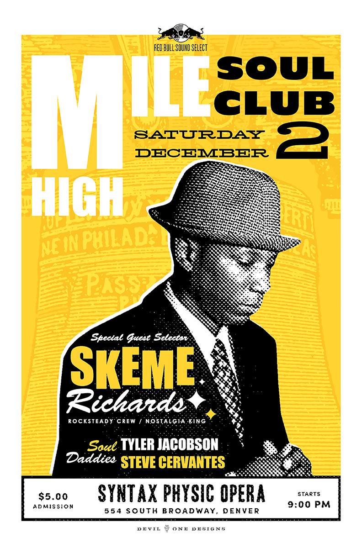 Mile High Soul Club Denver December 2017 with guest DJ Skeme Richards
