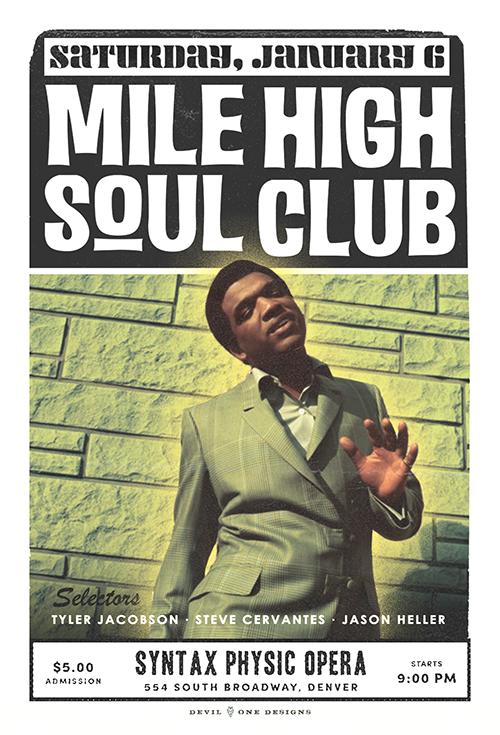 Mile High Soul Club - Denver Soul Dance Party - January 6, 2018