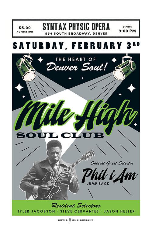 Mile High Soul Club - February 2018 - w. guest Phil I Am