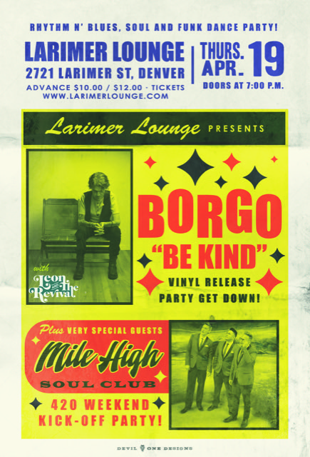 Borgo Be Kind Vinyl Release Party