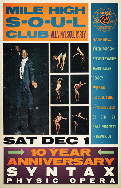 Mile High Soul Club Dec 2018 - 10th Anniversary
