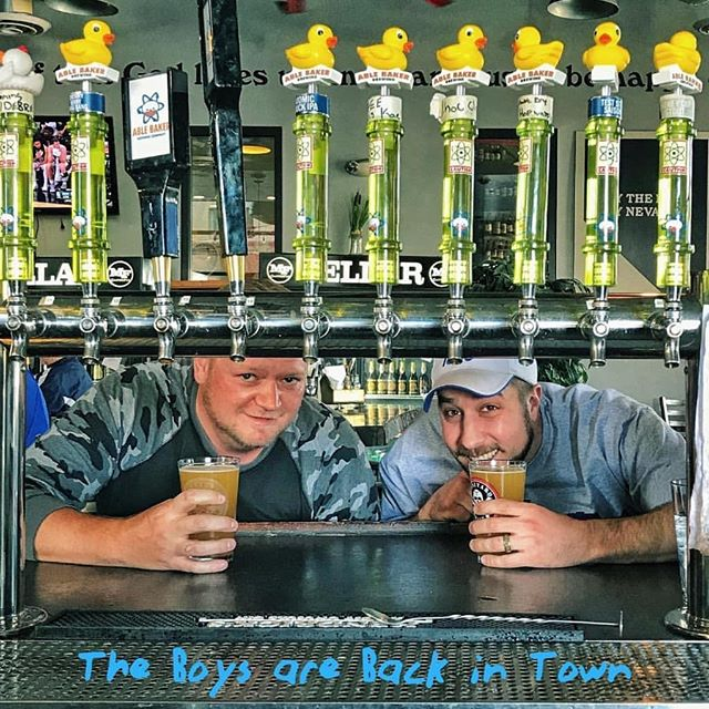 """Hey #reno, I'll see you on Tuesday! #tuesdayisthenewfriday  @mellowfellowpub The boys are back in town! Ryan and Clint are jumping behind the bar this Tuesday, starting at 5pm. Come say """"hello"""" and put them to work! #mellowfellowreno"""