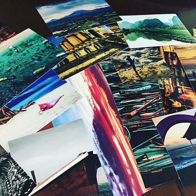Ordered some prints from my travel photos. Because sometimes real beats digital...