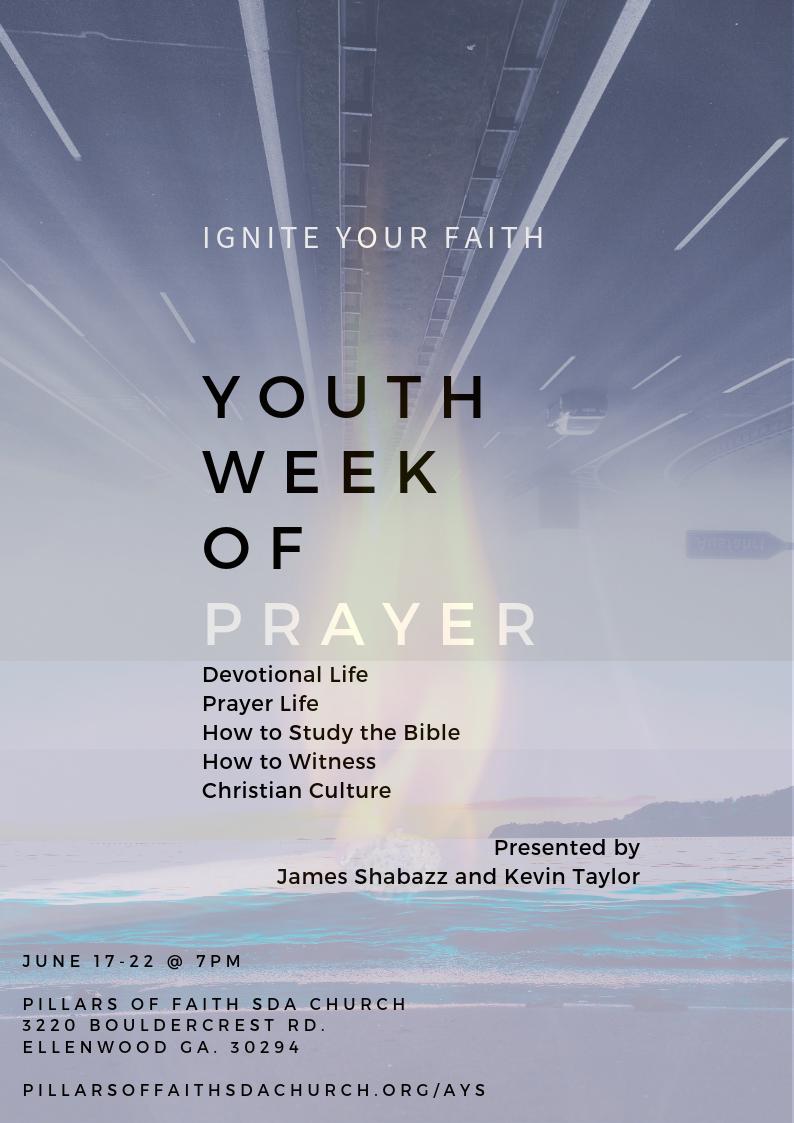 Youth Week of Prayer — Pillars of Faith Seventh-day