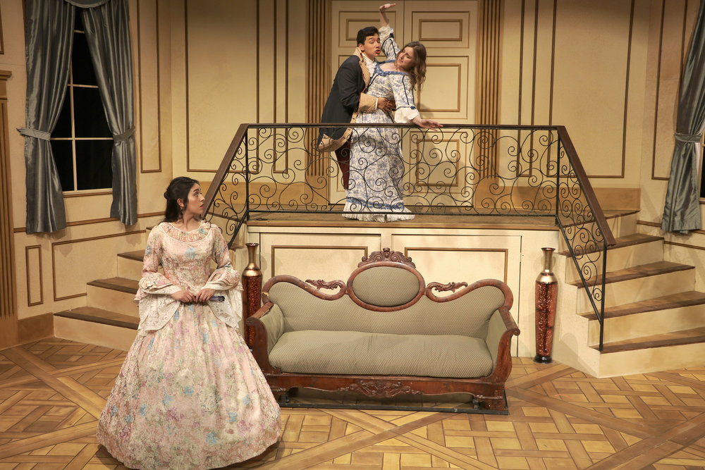 Valere Harasses Dorine (Dorine on balcony)