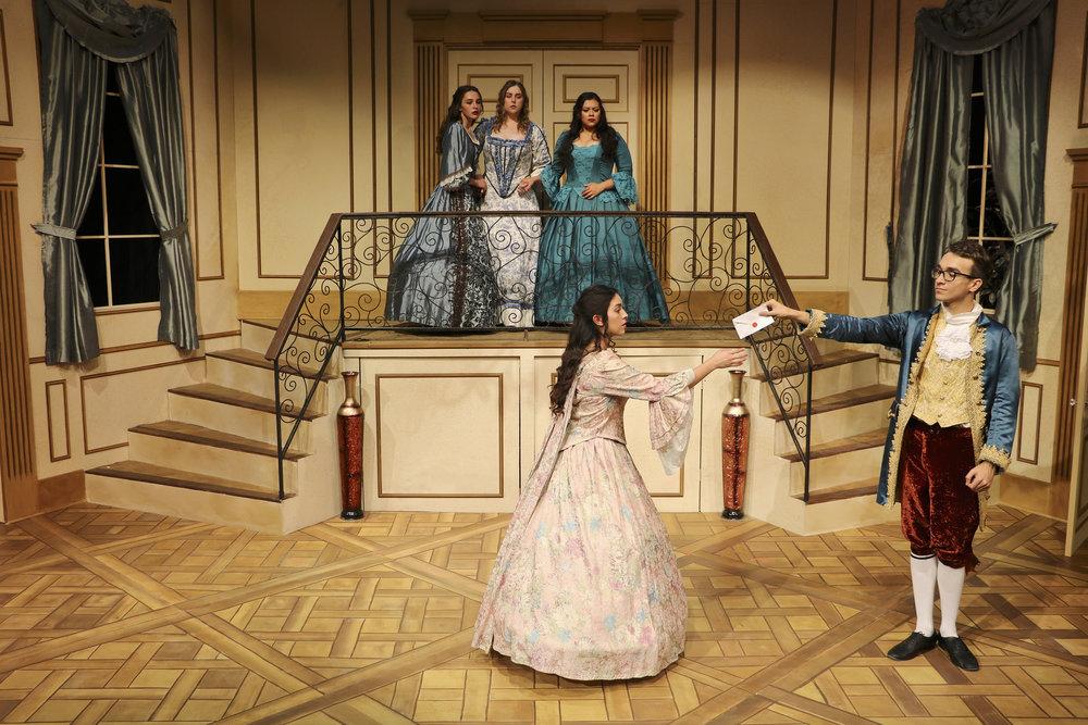 Orgon's Decision (Dorine at center balcony)