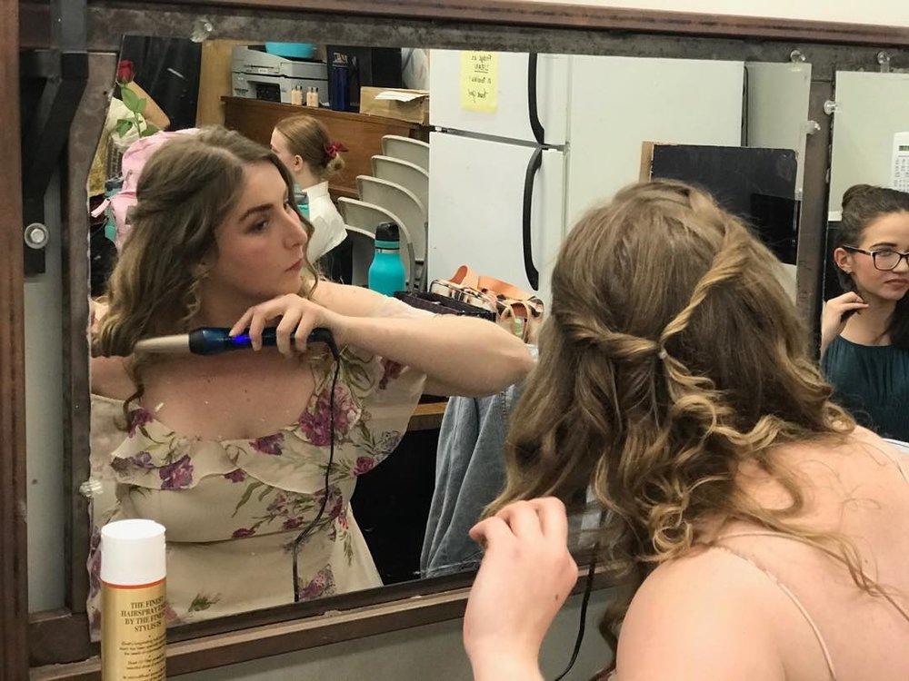 Dorine getting ready  (Tartuffe)