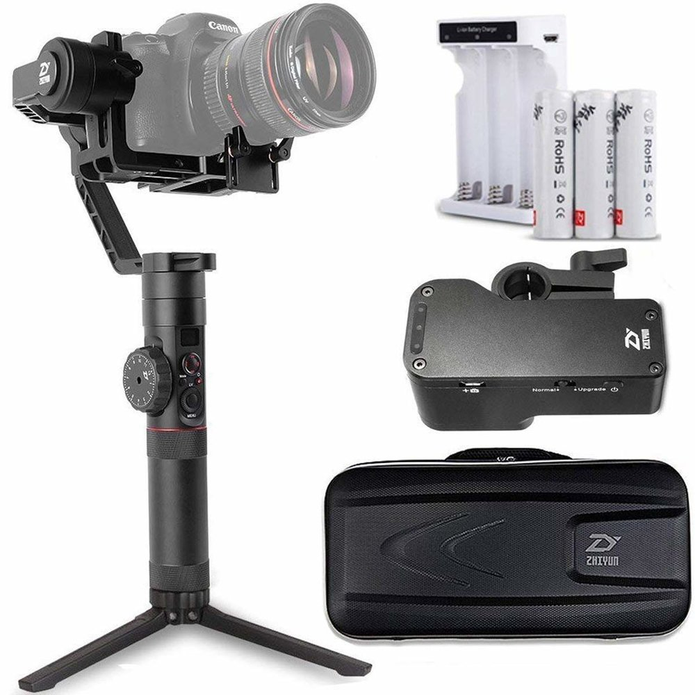 Zhiyun Crane 2 - This is vital for any video shoot I do, and due to the nature of my shoots, mine has become battered and bruised! Can vouch that this thing can take a beating.Buy it on Amazon