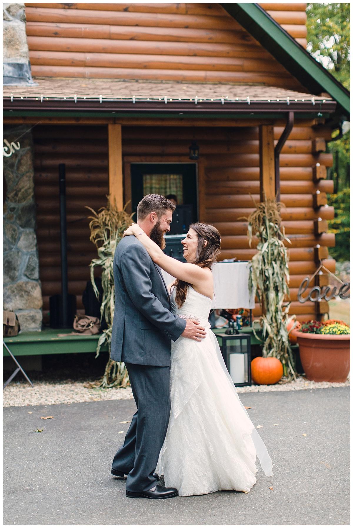 Backyard Autumn Wedding