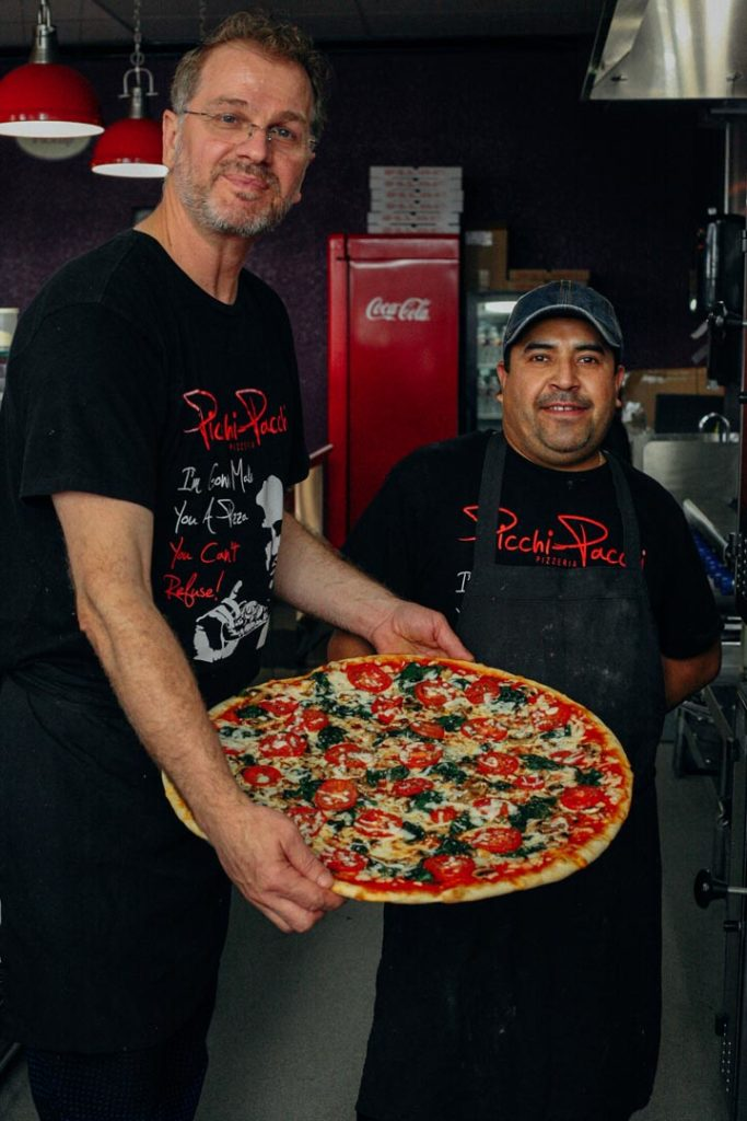 The People Behind the Pizza - When Picchi-Pacchi's doors opened back in 1996, I started working here as a proud pizza artisan. Fast forward fourteen years to 2010, I seized the first opportunity to become the new owner of Picchi-Pacchi. While some traditions would still be embraced, new changes within the restaurant took place. I opened this restaurant with the vision to continue creating delicious food with only the freshest ingredients. At Picchi-Pacchi perfection is the key and our menu features just that with a wide variety of choices aimed to satisfy everyone's taste. Our famous marinara sauce and house salad dressing are still made daily as well as the pizza dough, which is never frozen.Every single dish is made to order Picchi-Pacchi style, which in Sicillian means 'fast and quick'!