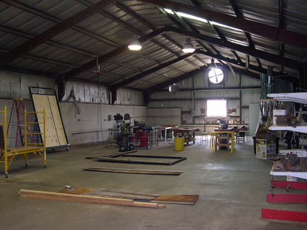 Early August 2006... shortly after moving into warehouse/shop.