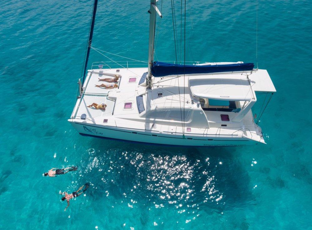 St. John Sailing Catamaran 'OFF CAY' Rates from $1200-2000/pvt
