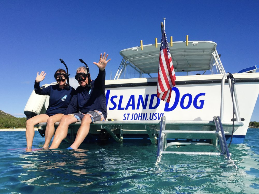 St. John Powerboat  'ISLAND DOG' Rates from $155/P or $1150/pvt