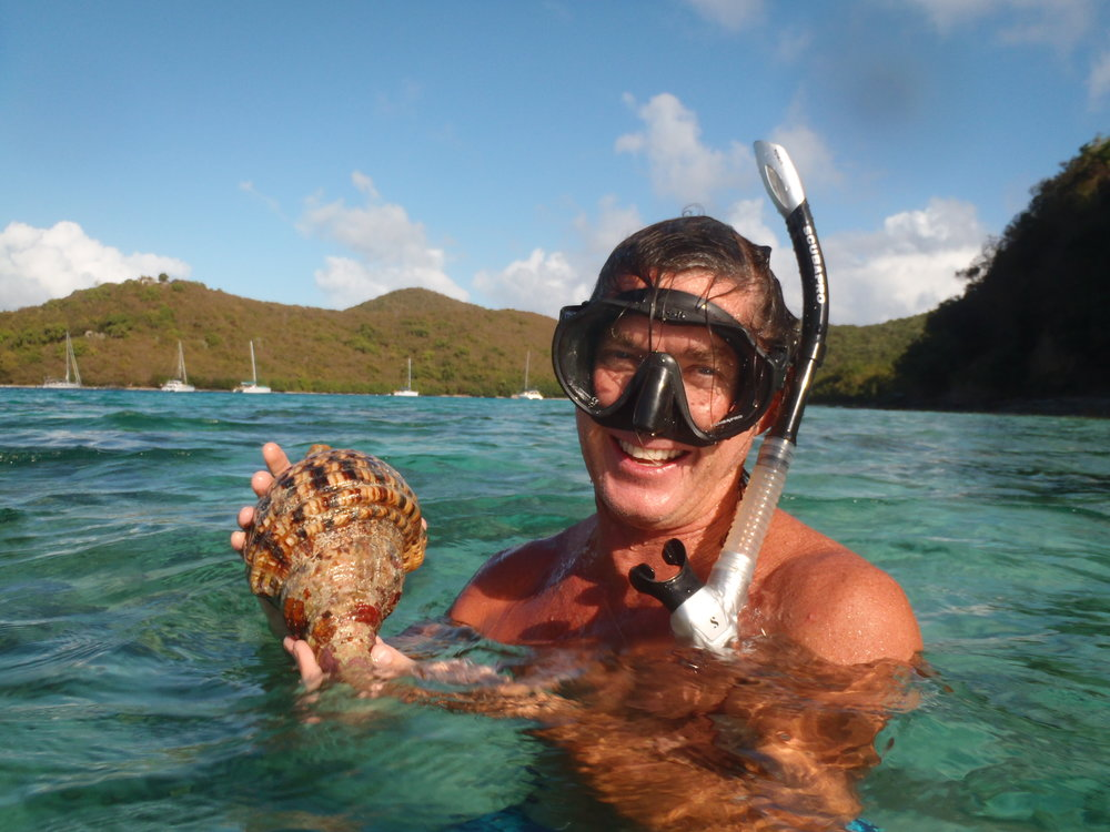 Snorkeling SDS and Whelk.JPG