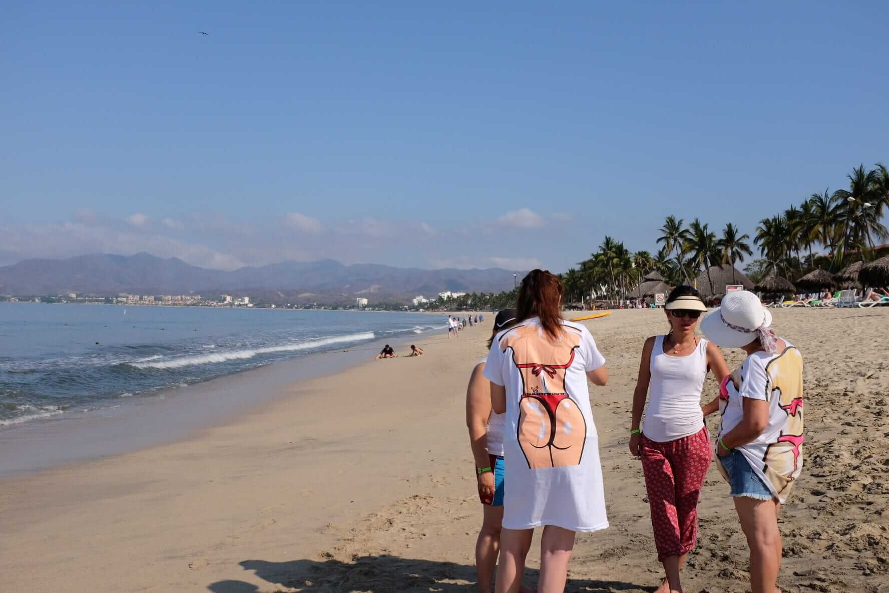 Lady's on the Mexican Beach