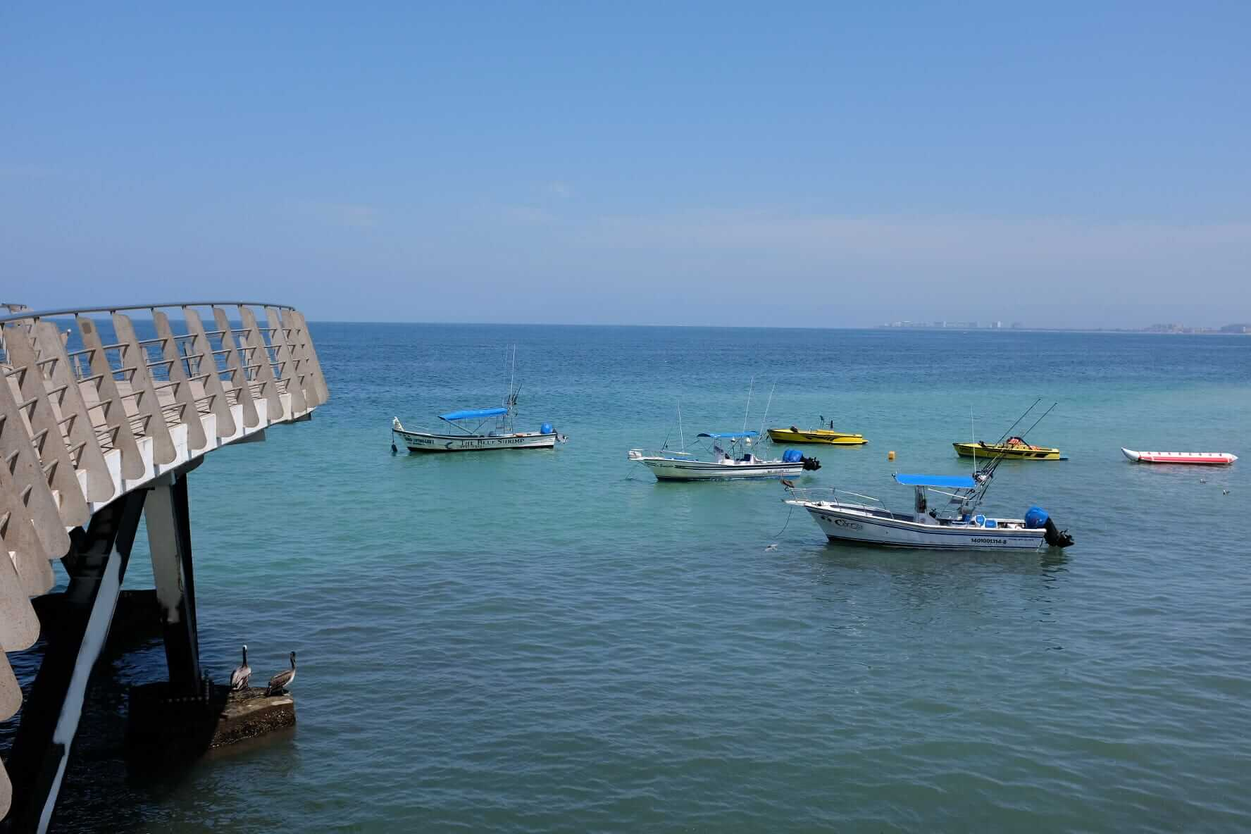 Boats on the Mexican sea