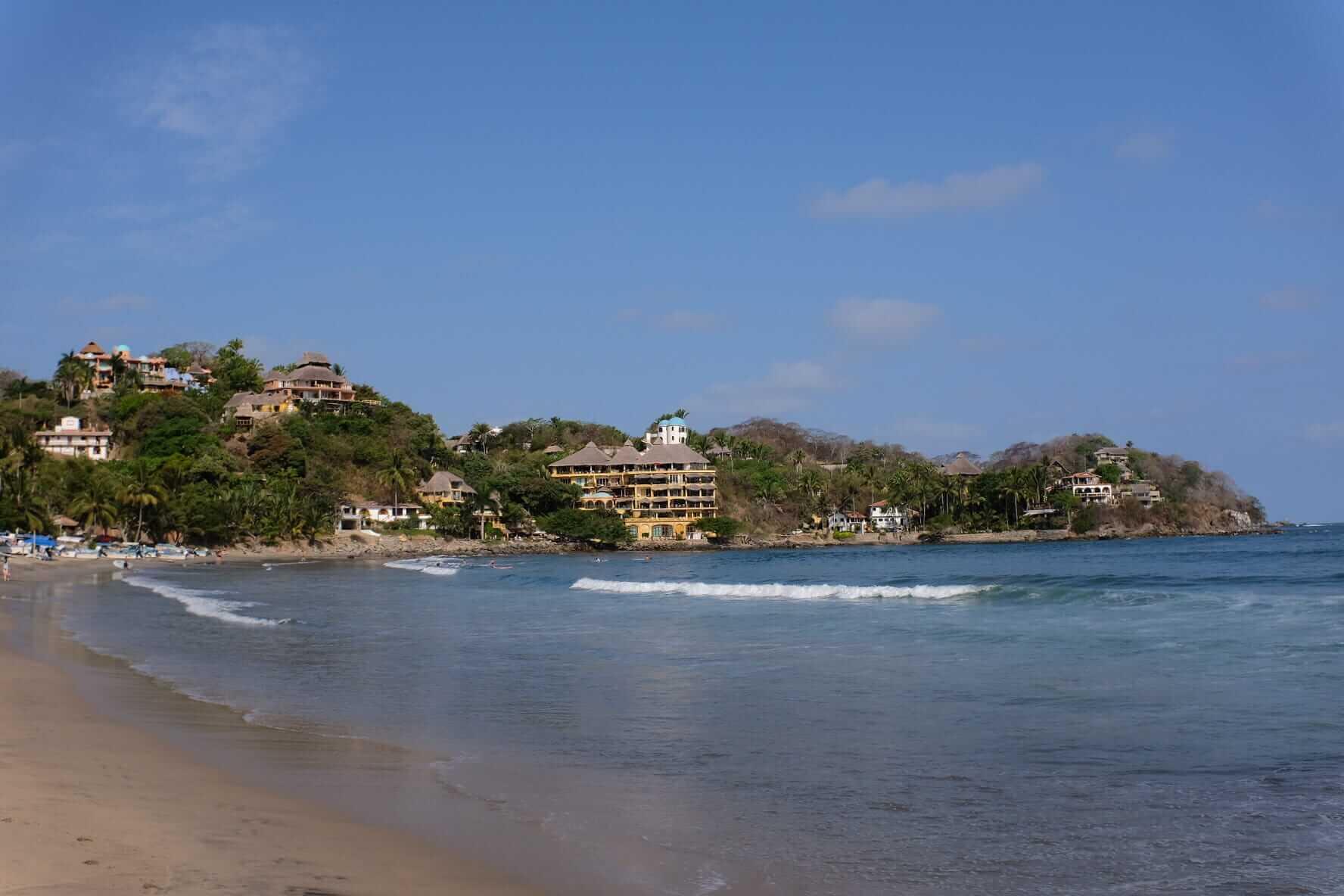 Sandy beach in Mexico