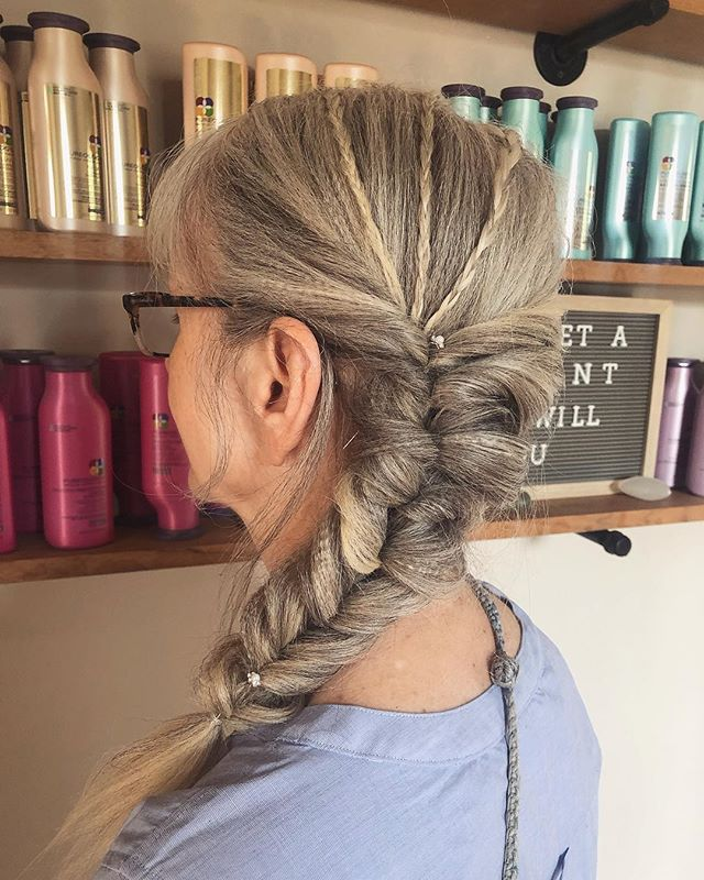 Texture and braids💕by @soloxhair #patriciahillcolorstudio #pureologyus