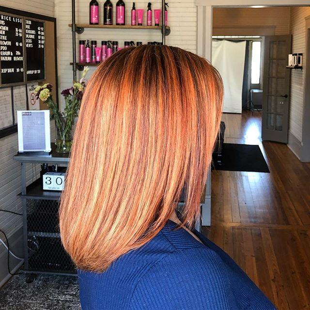 🍑Hair by P and Jaden #patriciahillcolorstudio #redhead