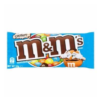 Dropee Snacks M&M's Crispy Chocolate Candies 34g