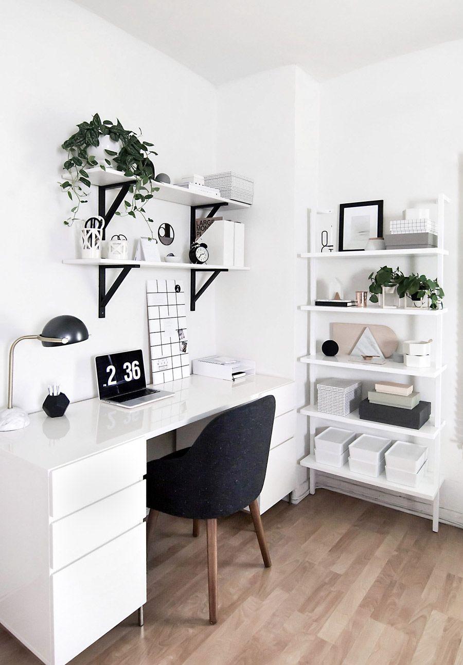 minimalist office set up