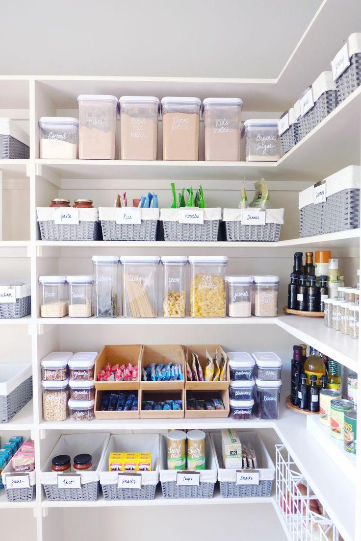 shelf full of food stocks