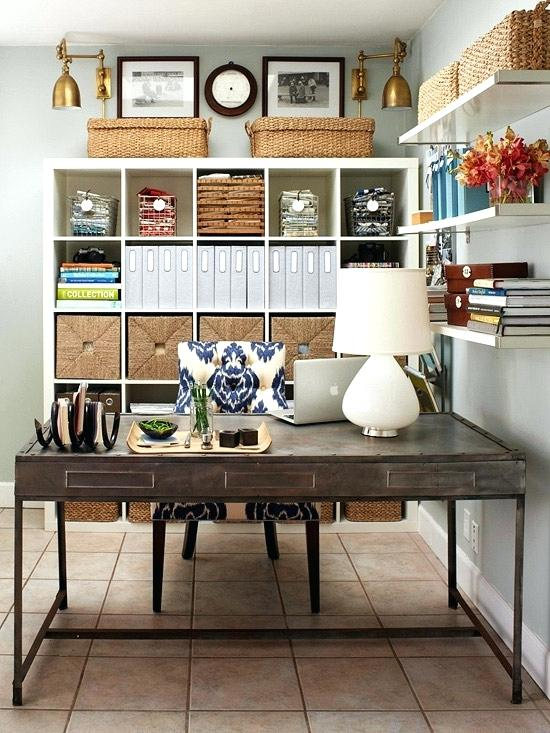 neat office with organizers