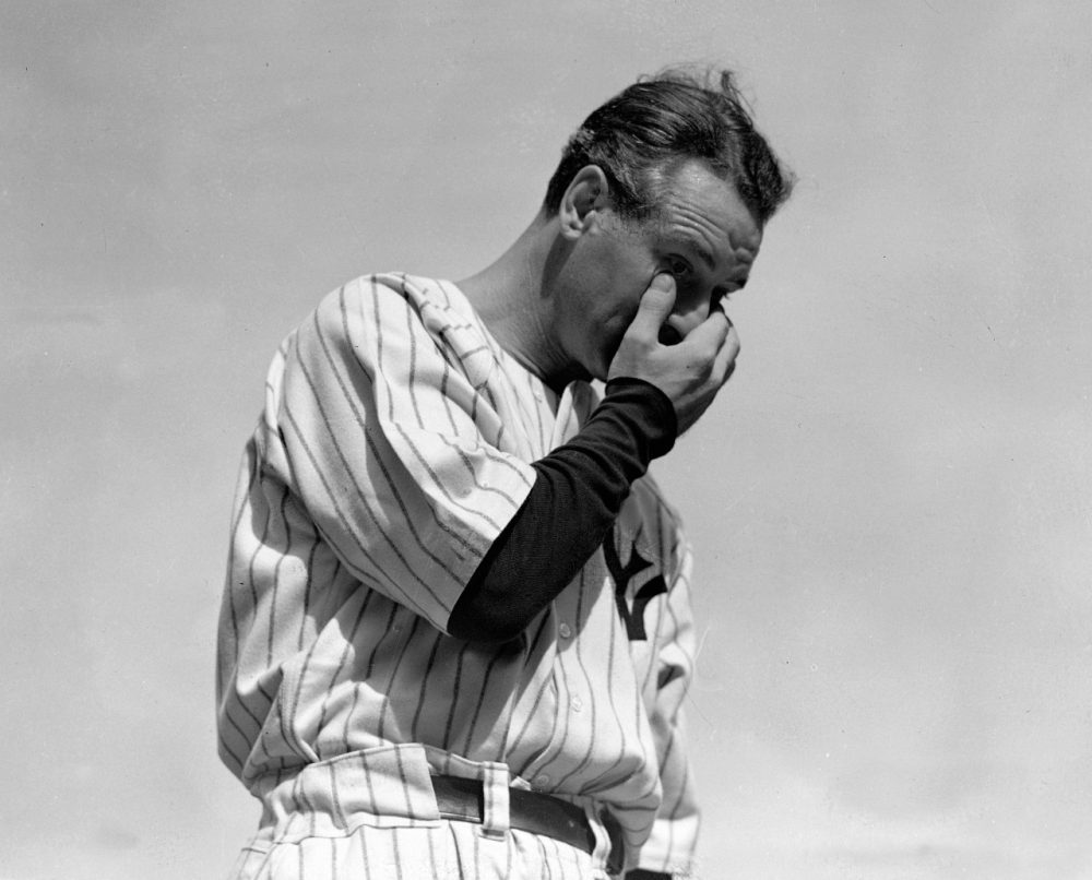 Lou Gehrig, NY Yankees Legend. Farewell.
