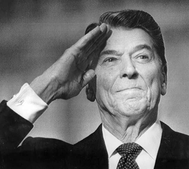Ronald Reagan, President. Space Shuttle Challenger.