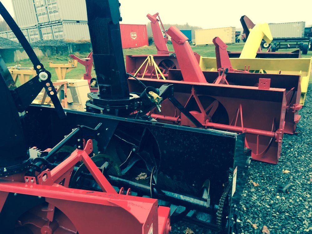 7 Snow Blowers from 54 in to 72 in, starting at  - $1,250.