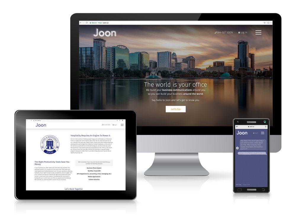 Joon Website - A few digital expressions of Joon's new brand with new messaging and tagline.