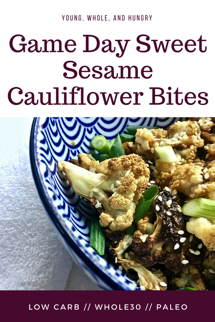 Game Day Sweet Sesame Cauliflower Bites