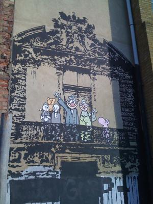 Blur's Banksy artwork