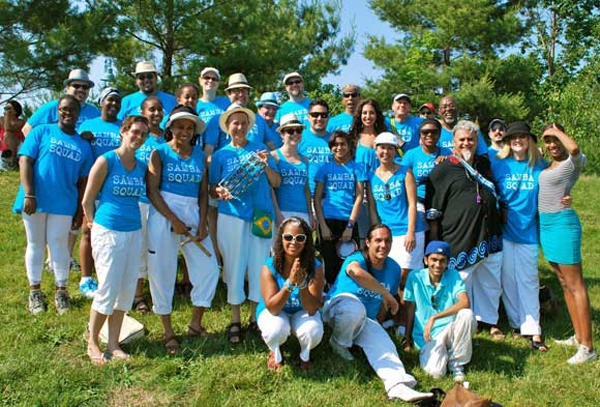 Picture of Samba Squad at Muhtadi's International Drumming Festival in 2012.