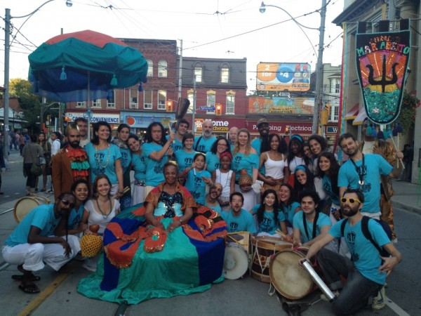 Maracatu Mar Aberto at Cabbagetown Festival in 2012.