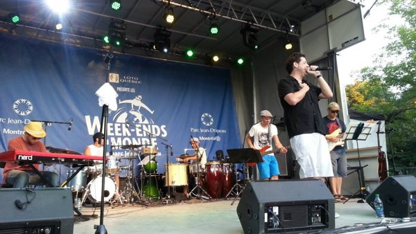 Pedro Quental and the band perform at Montreal's summer Carnaval, July 2013 (Photo: Negin Bahrami)
