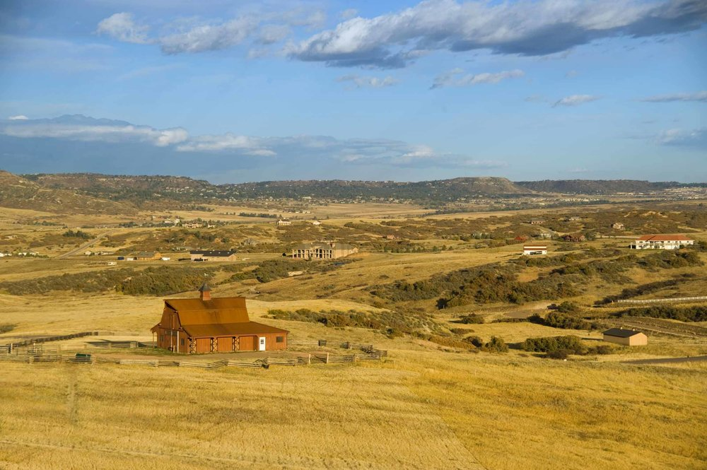 Sedalia, Colorado - In Sedalia, large acreage ranch properties and new custom home neighborhoods blend together through rolling plains, wildflower meadows, open space, and horse properties.