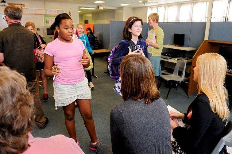 Laura Daugherty at Gentry Middle School.jpg