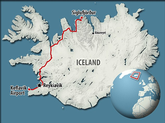 iceland map of journey