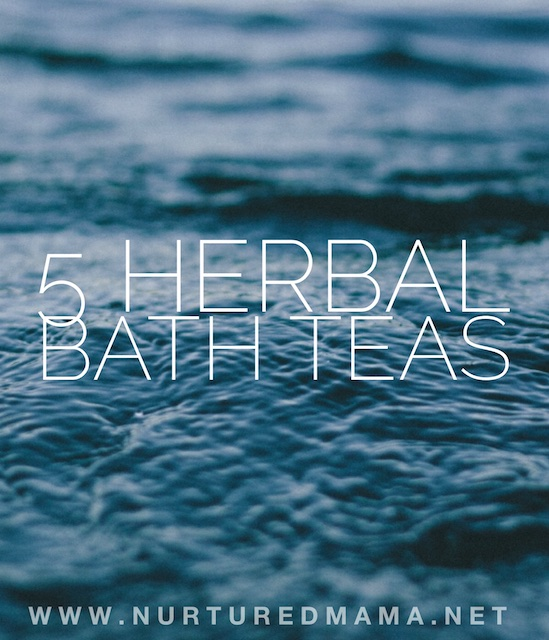 Mama needs a break. Shut that door and give yourself a little self care with one of these easy DIY herbal bath teas. :: www.nurturedmama.net