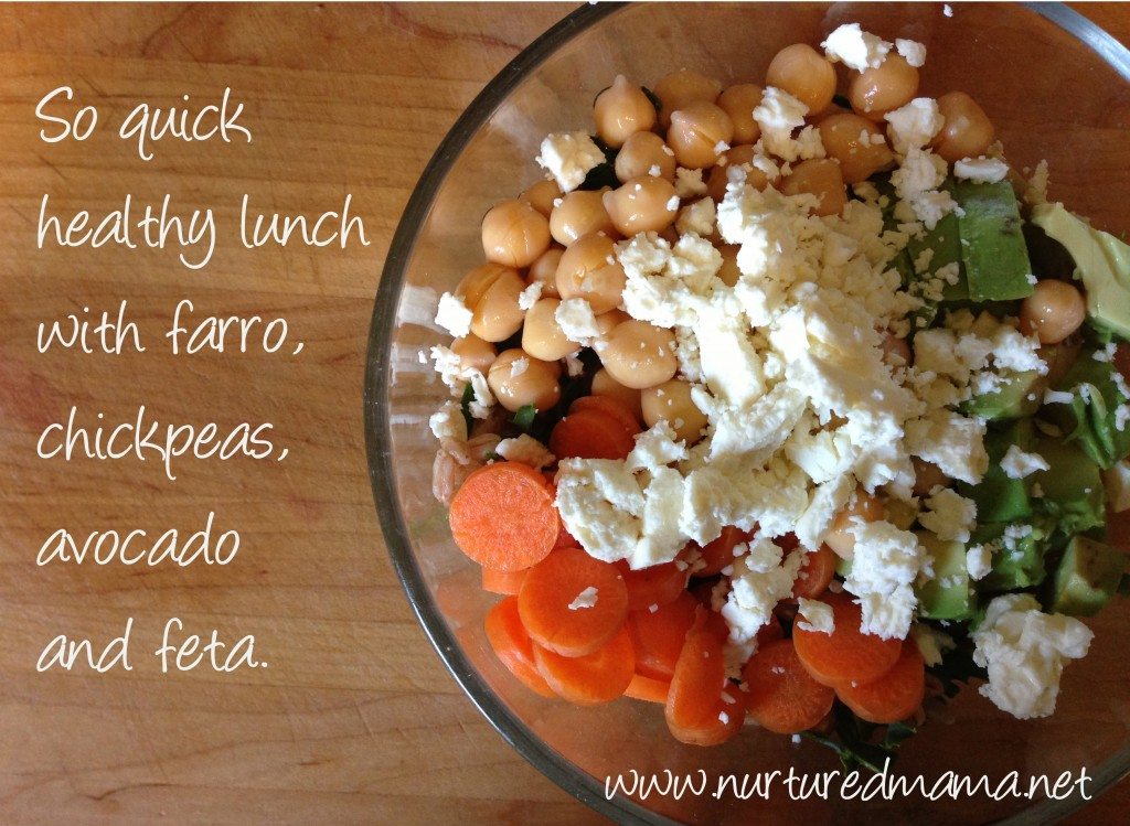farro garbanzo salad