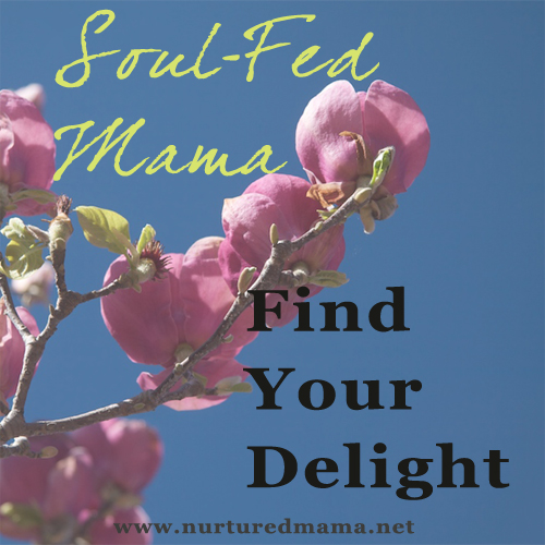 Find Your Delight, part of the Soul-Fed Mama series | www.nurturedmama.net