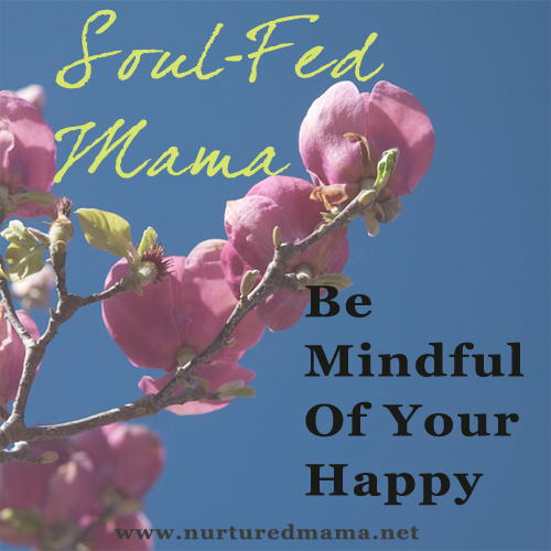Be Mindful Of Your Happy, a post in the Soul-Fed Mama series on www.nurturedmama.net