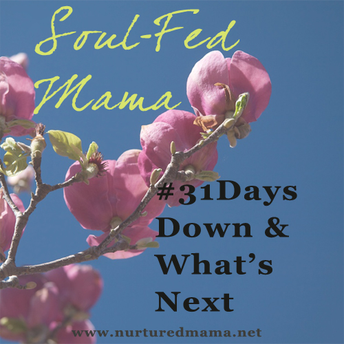 What's Next, the final post in the Soul-Fed Mama series on www.nuturedmama.net