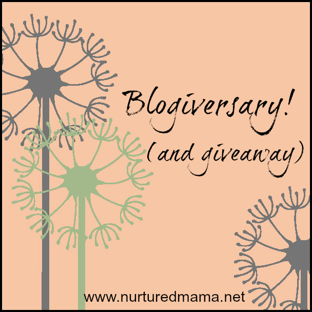 Blogiversay and a giveaway from Nurtured Mama Blog