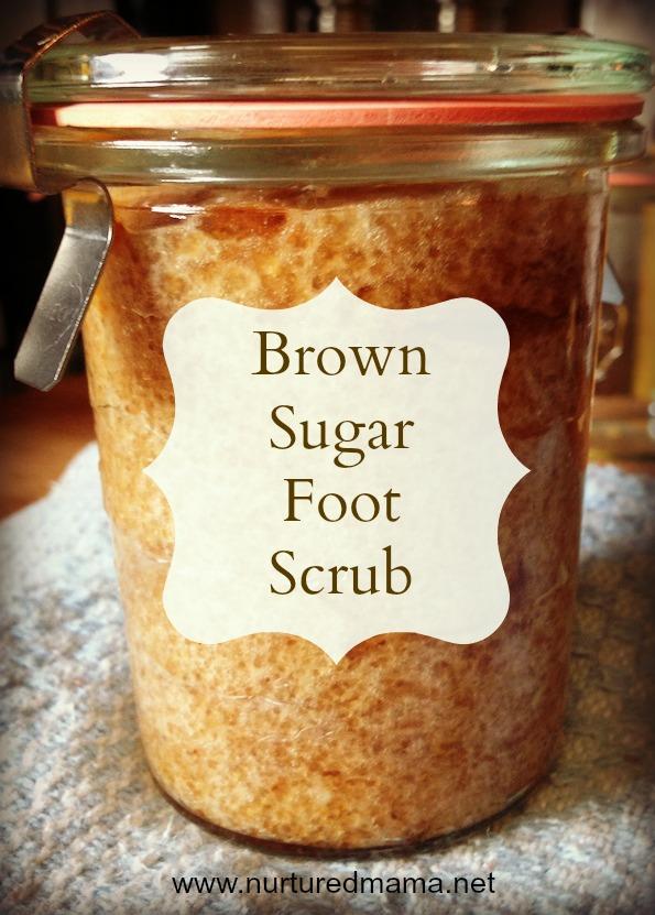 Brown Sugar Foot Scrub :: nurturedmama.net