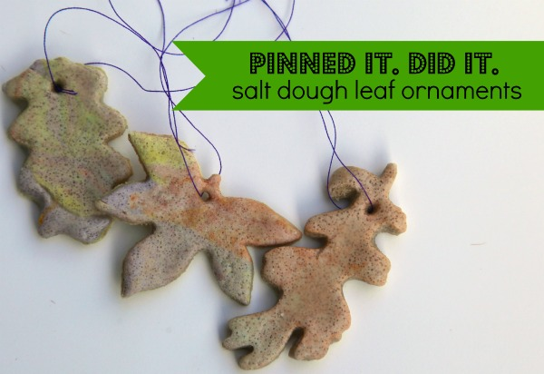 Guest Post: Pinned It, Did It: Salt Dough Leaf Ornaments   Nurturedmama.net