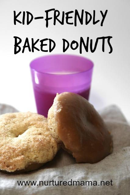 Kid-friendly baked donuts :: nurturedmama.net